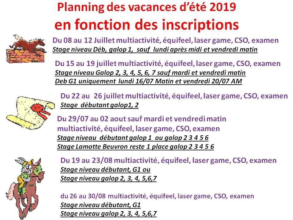 08 - 07 - 2019 Stage d'été
